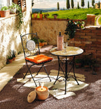 "Metal Foldable Bistro Chair ""Mosaic Stars"""
