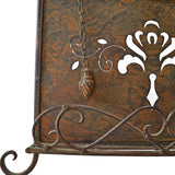 Westcharm Antique Metal ♥Cookbook Stand Recipe Book Stand for Kitchen Easel Weighted Chain