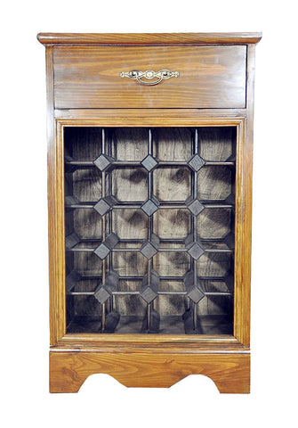 Wine Rack - Wood Cabinet with Counter and Drawer, hold 20 Bottles