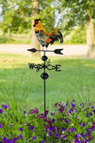 Metal Rooster Weather Vane Garden Stake / Weathervane for Roofs with Rooster Ornament