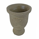 Accent Vase - Stoneware Cup Antique style Flower Vase