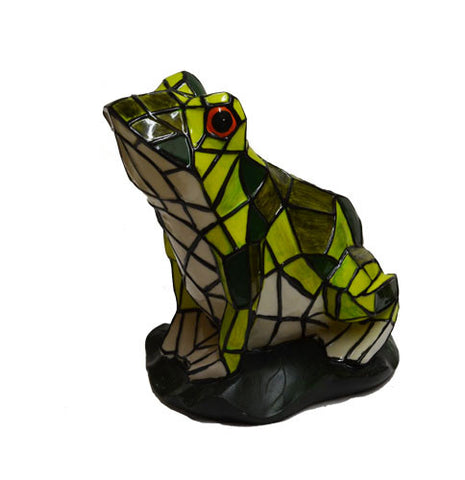 Solar Lighted Frog Accent Light -- Landscape Ornament