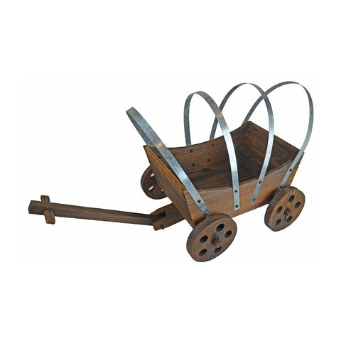 Wood Wagon Planter For Garden or Patio