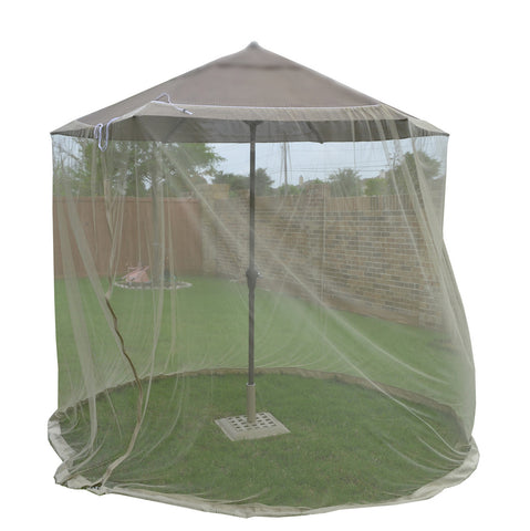 7 ft (84 in) Tall Mosquito Net Canopy ONLY with Zipper for 7 ft -9 ft Umbrella