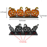 Halloween Pumpkin Centerpiece with 4 Integrated Tealight Holders