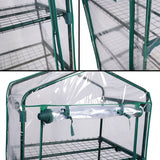 2.3 ft. W x 5.25 ft. H 4-Tier Greenhouse with Transparent PVC Cover and Caster Wheels