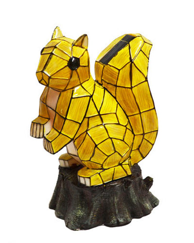 Solar Lighted Squirrel Accent Light -- Landscape Ornament