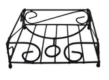 "Napkin Holder Metal Square Luncheon Home Flat 7"" - Black"