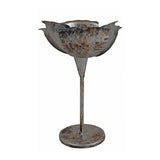 Metal Floral Tealight Candle Holder, Tall