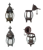 Candle Lantern - Metal Hanging Candle Lantern, French Lily