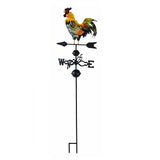 48 in. Metal Weather Vane with Rooster Ornament Wind Vane Weather vain for roof Weather vanes for Roofs Rooster weathervane