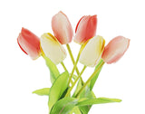 Set of 2 (3pk) Real Touch Artificial Tulips, Wedding Flowers, Bridal Bouquets, Spring Flowers