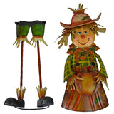 Free Standing Decorative Autumn Scarecrow Girl with Pumpkin Yard Art