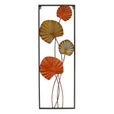3D Multi-colored Metal Autumn Colors Open Frame Vertical Wall Art