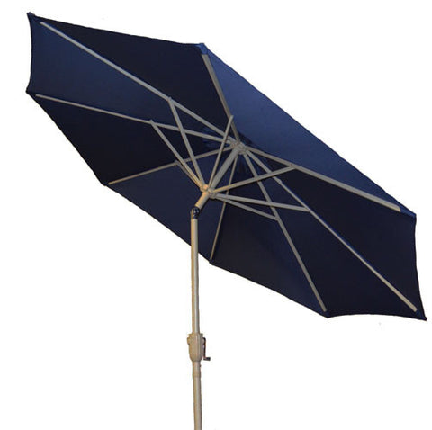 9 ft Navy Blue Aluminum Patio Market Umbrella with Crank and Tilt