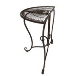 "Metal Half Moon Console Table ""Provencal"""