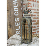 Candle Lantern Architectural Design in Metal Frame - Cathedral