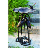 34 in Three-Crane Birdbath for Yard or Garden - Antique Bronze