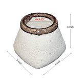 Decorative Cement Vase with Round Top Square Base, Medium