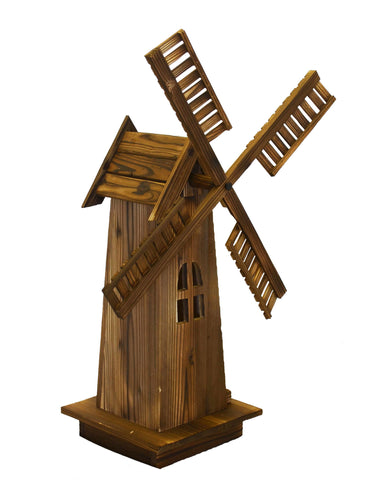Wooden Dutch Windmill Back Yard Decorations - Classic Old-fashioned Windmill For Garden, Patio