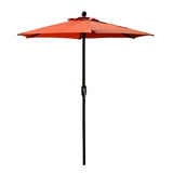 Patio Umbrella Outdoor Table Umbrella with 6 Sturdy Ribs and Crank 6.5 ft, Orange Umbrella
