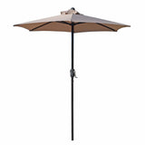 Patio Umbrella Outdoor Table Umbrella with 6 Sturdy Ribs and Crank 6.5 ft, Taupe Umbrella