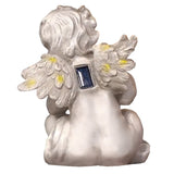 Solar Lighted Deliah Cherub Light -- Landscape Ornament