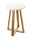 11.8 in. Dia. Round Two Tone 4 Legs Stool, Side Table