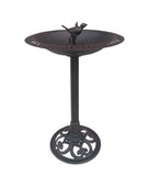Cast Iron Bird and Twig Birdbath -  Pedestal Birdbath for Yard, Garden