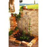 14 x 46 in. Decorative Metal Trellis Garden Stake with Scroll Accent