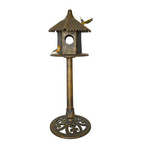 Free-standing Classic Heights Bird House With Domed Roof and Pedestal Base