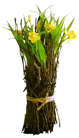 Mini Flowering Twig Bundle - Yellow Daffodils