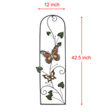 43 in Tall Colored Metal Butterfly Wall Decor with Vines