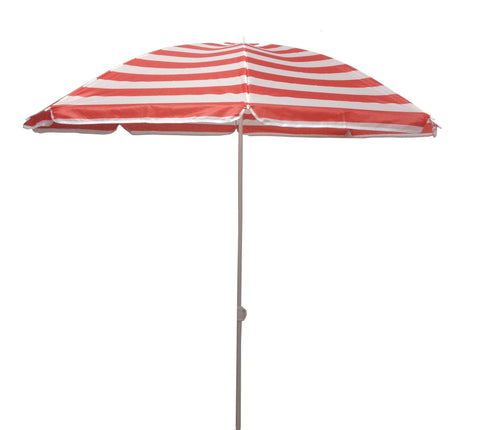 6.5 ft Outdoor Beach Umbrella - Crimson Stripe