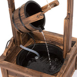 Water Fountains Outdoor Wishing Well Wood Patio Fountain with Pump SKU: PL50002