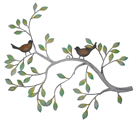 24 in Branches w/Birds Decorative Metal Wall Decor Sculpture Kitchen Home Indoor