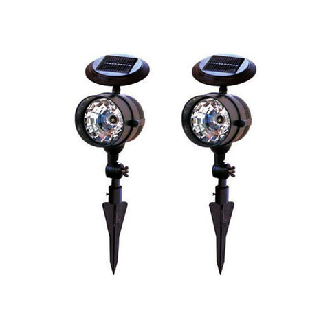 Solar LED Spotlights for Outdoors, Set of Two