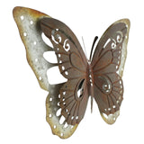 19 in. Metal Rustic Silver Butterfly Wall Decor