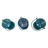 "Frosted Glass Candle Holder - Windlicht ""Azur"", Set of 3"