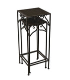 2 Pieces Metal Square Plant Stand Set