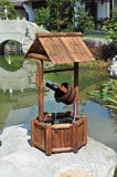 Water Fountains Outdoor 3.8 ft Grand Wishing Well Wood Fountain with Pump Product SKU: PL52407