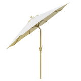 9 ft Natural Shade Aluminum Patio Market Umbrella with Crank and Tilt
