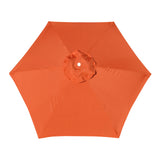 Replacement Umbrella Canopy Cover for 6.5 ft 6 Ribs Patio Market Umbrella (Canopy Only) - Orange