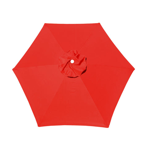 Replacement Umbrella Canopy Cover for 6.5 ft 6 Ribs Patio Market Umbrella (Canopy Only) - Red