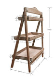 41 in Tall Foldable Wooden Plant Stand for Outdoor or Greenhouse, Three Shelves