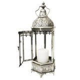 16.5 in. Tall Metal Oriental-style Hexagonal Hanging Candle Lantern