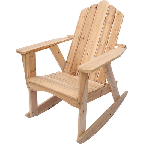 Natural Wood Adirondack Rocking Chair