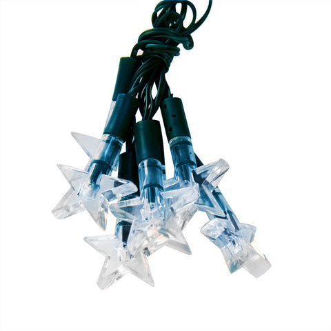 Blue-white Stars Solar LED String Lights - Solar Lights for Yard or Patio