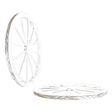 30 in Wooden Wagon Wheels - Decorative Wall Decor, Set of Two--WHITE