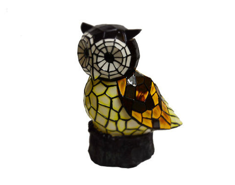 Solar Lighted Owl Accent Light -- Landscape Ornament